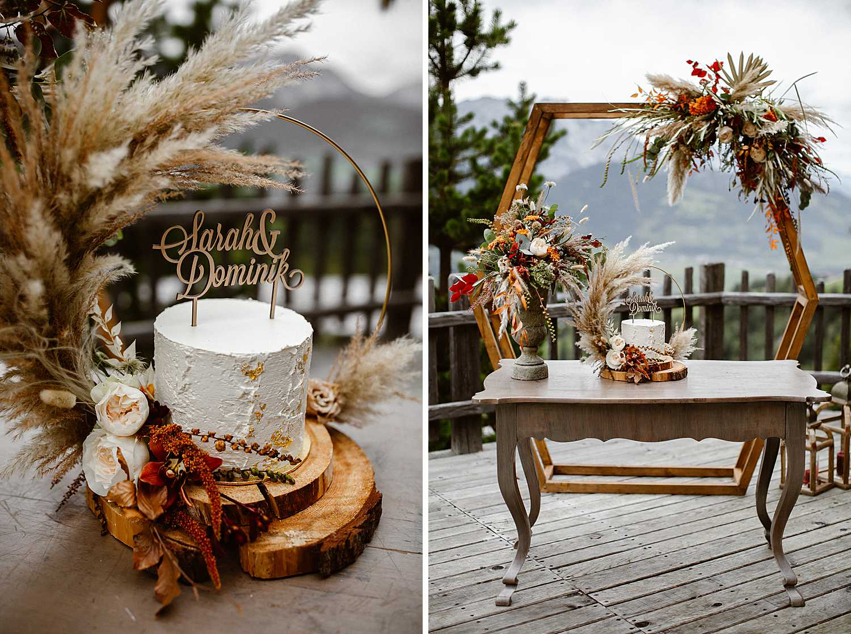 Boho Hochzeitsdekoration