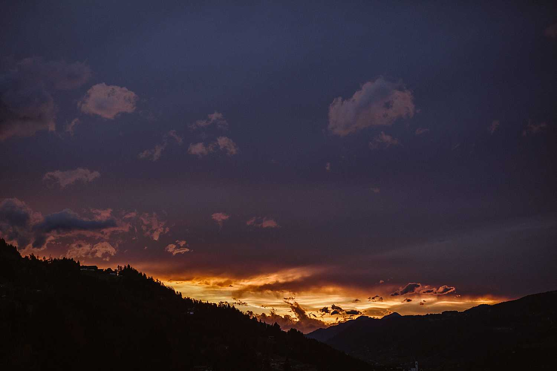 Sonnenuntergang Schladming